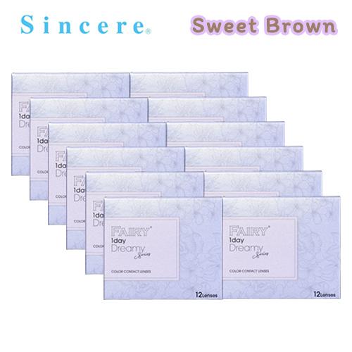 【12箱セット】フェアリーワンデー スウィートブラウン(12枚入)