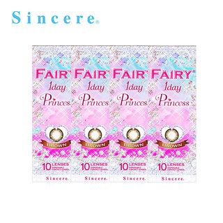 【4箱セット】フェアリー1DAY プリンセス ブラウン(10枚)
