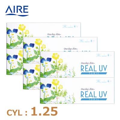 【6箱セット】リアルUV トーリック(10枚)ブラウン CYL1.25