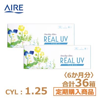 【6ヶ月定期】リアルUV トーリック(10枚)ブラウン CYL1.25