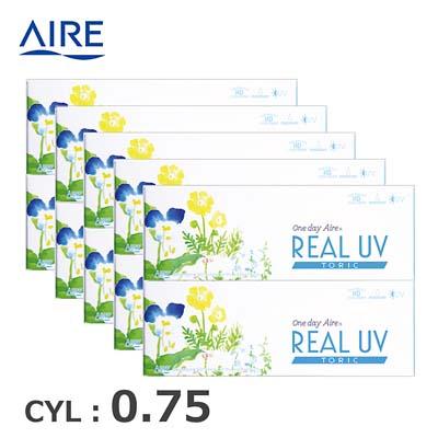 【10箱セット】リアルUV トーリック(10枚)ブラック CYL0.75