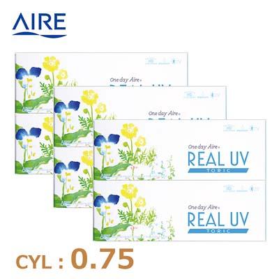 【6箱セット】リアルUV トーリック(10枚)ブラウン CYL0.75