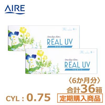 【6ヶ月定期】リアルUV トーリック(10枚)ブラウン CYL0.75
